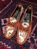 .GUCCI PAISLEY PATTERNED CANVAS LEATHER HORSE BIT LOAFER MADE IN ITALY/グッチペイズリー柄キャンバスレザーホースビットローファー2000000030722