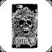 #016-013 iPhone8対応 クール系・ロック系 《スカル》 iPhoneケース・スマホケース  作:nero  Xperia ARROWS AQUOS Galaxy