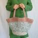 着物裂き編み 少し大きめの春色ショルダートートバッグ