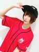 ベースボールシャツ 赤