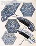 傘 折りたたみ レディース ネコ キャッツ柄 強力防水 50cm 晴雨兼用 UVカット99%以上 遮熱ブラックコート 軽量・簡単開閉
