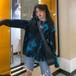 ゴスロリ シャツ 長袖 ターコイズ ブルー 病み可愛い v系 ストリート系カジュアル フリーサイズ 原宿系 10代 20代