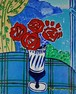 坂口紀良 「アマルフィ海岸を望むバラの窓辺」 油彩画 F3号