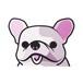 フレンチブルドッグ(小) 犬ステッカー
