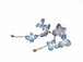 アジサイの花舞うピアス(天然ラピスラズリ・草木染)14kgf・《イヤリング可》