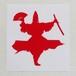 アイロンプリント水車:赤