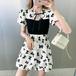 【dress】着回し最強肌触りいいリボン切り替え人気デザインデートワンピース2色