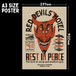 """R.D.M """"Rest In Peace"""" Vintage-style Poster(A3)"""