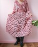70's ruffle maxi dress