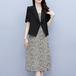 【set】今季マストバイファッション2点セットコート+キャミワンピース2色 M-0495