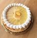 【送料無料・税込】桃の焼きチーズケーキ18cm-米粉クレープ専門店マゼンタースのクレピエケーキ-6号ホール