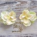 Girly Flowers  Pierce -Green&Yellow-