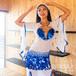 Saidi Dress/White×Blue