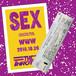 "2018.10.26 THE THROTTLE WWW One Man ""SEX"" Sign Ticket&Sticker"