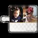 iPhone・Android Mサイズ モコモコ手帳型ケース color:ホワイト