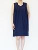 Silk Cotton Dress / NAVY