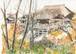 「水彩画ミニアート」京都 紅葉の清水寺