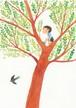 post card 「木のぼり」