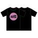 ウェーブロゴTシャツ(ブラック × ピンク)