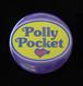 ポーリーポケット パープルのブリキ缶バッジ