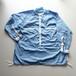 * 価格未定 * ループリボンカラーシャツ プロトタイプ 【Cotton shirt 】-sax blue-