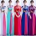 チャイナ風ドレス ロング刺繡 レトロ 五分袖 4XL 二次会 パーティー お呼ばれ wb068