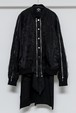 Blouson Shirts + Sleeveless Set (Black)