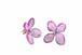 《草木染》葉脈アジサイのピアス【コチニール紫染め】・14kgf《イヤリングに交換可》