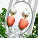 ホイップとフレッシュいちごのイヤリング/チタンピアス