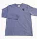 「博多ハート」長袖綿Tシャツ(LT-01)M ユニセックス グレー×ブラック