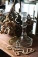イギリス プレスガラス キャンドルスタンド キャンドル立て キャンドル