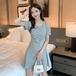【dress】合わせやすいカジュアル大好評肩出し人気デザインデートワンピース3色