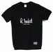 Logo サイドリブ T-shirts / ブラック