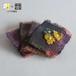 手織り布と小花のバレッタ
