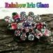 濃厚な虹色★レインボー アイリスガラス ヴィンテージ クラスター ブローチ 1950s