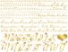 ハートアルファベット小文字*Gold《白磁用》