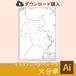 大分県の白地図データ