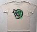 Hurry Up! / T-shirts(Beige x Green)