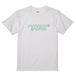 マカロニフォントTシャツ(グリーンライン)