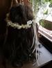 可憐なカスミソウとアンティークパールの花冠