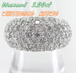 【SOLD OUT】3.00ct ダイヤハーフエタニティ パヴェリング K18WG ~【Luxury】3.00ct Diamond Half Eternity Pave Ring K18WG~