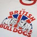 BRITISH BULLDOGS RINGER T White × Red