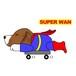 Superwanステッカー【ビーグル】 犬 ステッカー シール