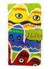 """スマホケース オーダーメイド 山脈くん ミラー&チェーン付きタイプ    smartphone case notebook type with mirror&chain """"Mr.mountain"""""""