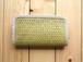 青竹と麻の財布・大 麻の葉編み
