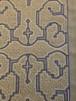 テーブルセンター32x53cm 灰色に紫と白 アマゾンシピボ族の刺繍 SHIPIBO