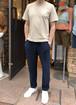 Vandori × CADETTO Knit Carrot Pants Navy VKT10009