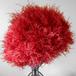 手編み帽子:赤もけもけ