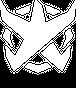 BADFALLロゴステッカー 白5
