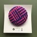 ひょうたんカフェの織りブローチ <NO.3…ピンク×ブルー>